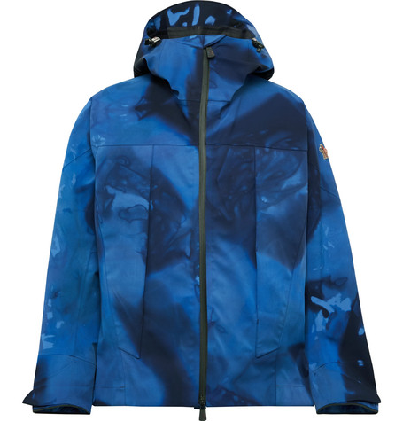 Moncler Genius 3 Grenoble Tie-Dyed Hooded Ski Jacket