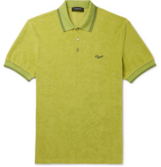 Ermenegildo Zegna Contrast-Tipped Logo-Embroidered Cotton-Terry Polo Shirt