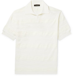 Ermenegildo Zegna Slim-Fit Textured Knitted Polo Shirt