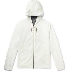Ermenegildo Zegna - Layered Shell and Mélange Cashmere-Blend Hooded Jacket