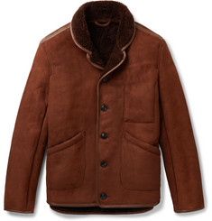 YMC - Leather-Trimmed Shearling Jacket