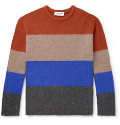 YMC Colour-Block Mélange Wool-Blend Sweater