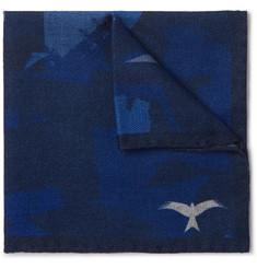 The Workers Club Printed Wool-Twill Pocket Square