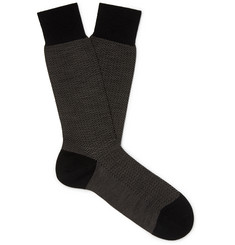 Pantherella Finsbury Herringbone Merino Wool-Blend Socks