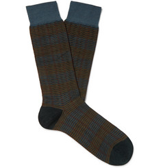 Pantherella Theed Merino Wool-Blend Jacquard Socks
