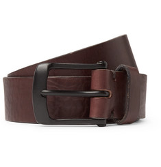 Oliver Spencer 3cm Chocolate Barrow Leather Belt