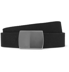 Oliver Spencer 2.5cm Black Webbing Belt
