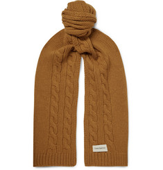 Oliver Spencer Arbury Cable-Knit Mélange Wool Scarf