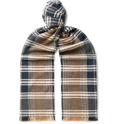 Oliver Spencer - Checked Organic Cotton Scarf