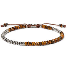M.Cohen Sterling Silver and Tiger's Eye Beaded Bracelet