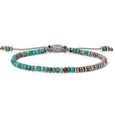 M.Cohen Oxidised Sterling Silver Turquoise Bracelet