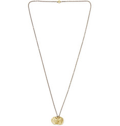 M.Cohen Oxidised Sterling Silver, 18-Karat Gold and Diamond Necklace