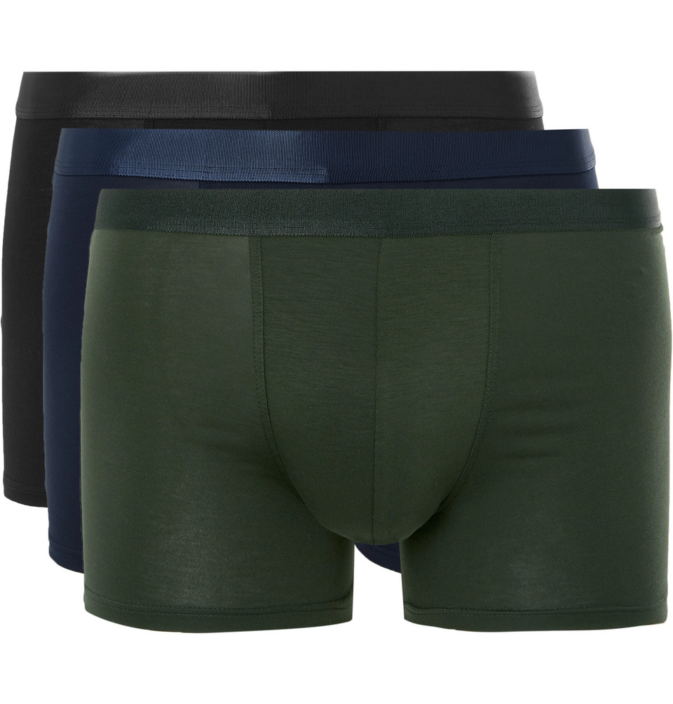 Three-pack Stretch-lyocell Boxer Briefs - Multi