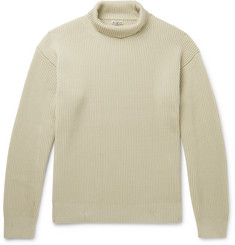 Auralee Ribbed Wool Rollneck Sweater