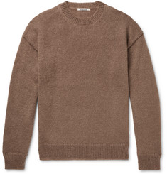 Auralee Brushed Mohair and Wool-Blend Sweater
