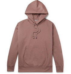 Auralee Fleece-Back Cotton-Blend Jersey Hoodie