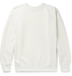 Auralee Fleece-Back Cotton-Blend Jersey Sweatshirt