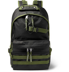 Indispensable Fusion Leather-Trimmed Ripstop Backpack