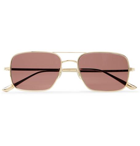 ea297df6af3b6 The Row+ Oliver Peoples Victory LA Aviator-Style Gold-Tone Titanium  Sunglasses