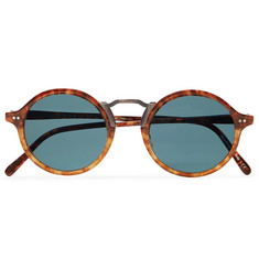 Oliver Peoples Kosa Round Frame Tortoiseshell Acetate And Gold-Tone Polarised Sunglasses