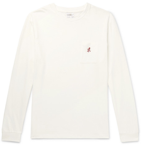 Gramicci One Point Logo-Embroidered Mélange Cotton-Jersey T-Shirt