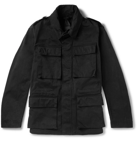 Woodland Ojj Coated Canvas Field Jacket by Ten C