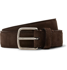 The Row 3cm Dark-Brown Suede Belt