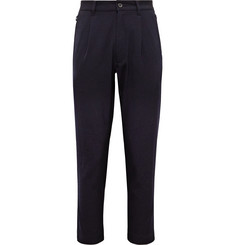 Pilgrim Surf + Supply Midnight-Blue Duncan Tapered Pleated Wool-Gabardine Trousers