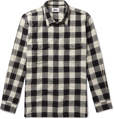 Pilgrim Surf + Supply Meyer Checked Cotton and Wool-Blend Twill Western Shirt