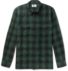 Pilgrim Surf + Supply Meyer Checked Cotton and Wool-Blend Shirt