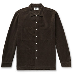 Pilgrim Surf + Supply Vincent Camp-Collar Cotton-Blend Corduroy Shirt