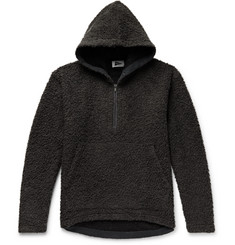 Pilgrim Surf + Supply Barnett Wool and Cotton-Blend Fleece Half-Zip Hoodie