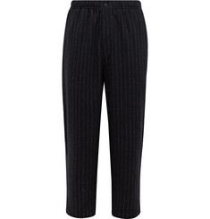 Pilgrim Surf + Supply Harry Pinstriped Brushed Wool-Blend Trousers