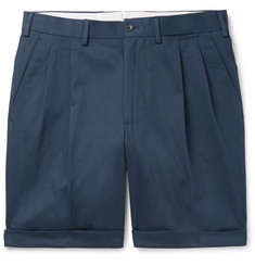 Berg & Berg Anton Pleated Cotton-Blend Twill Shorts