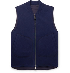 Mr P. Reversible Wool-Blend and Nylon Gilet