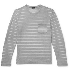 Club Monaco Duofold Striped Cotton-Jersey T-Shirt