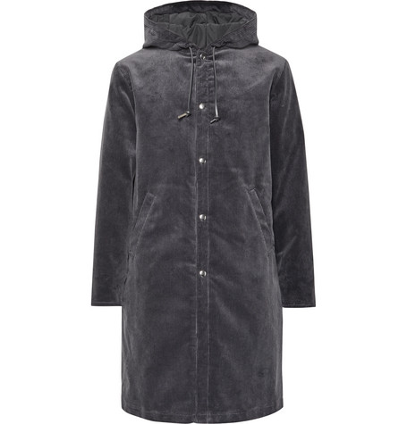 Noah Appliquéd Cotton-Corduroy Hooded Parka