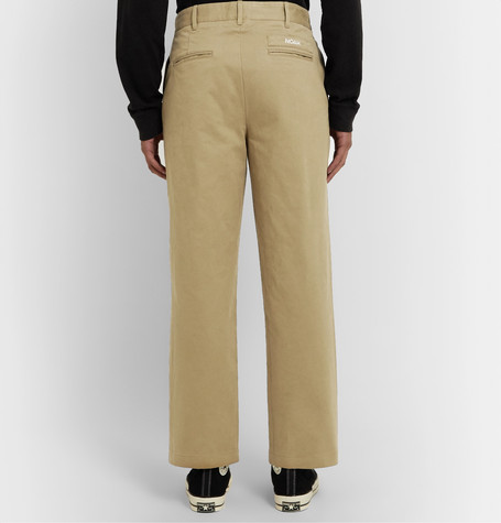 Pleated Brushed Cotton Chinos by Noah