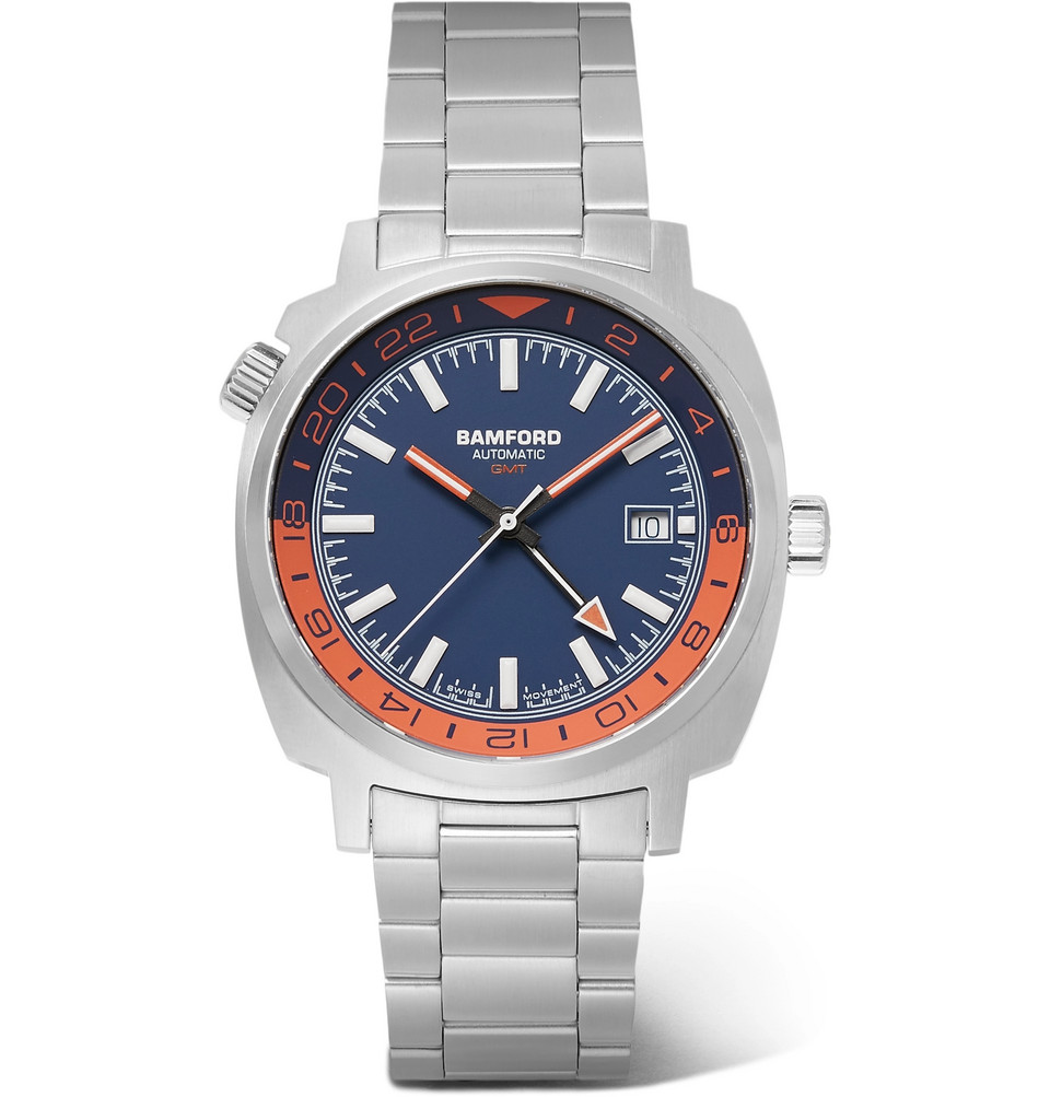 Gmt Automatic 40mm Stainless Steel Watch - Blue