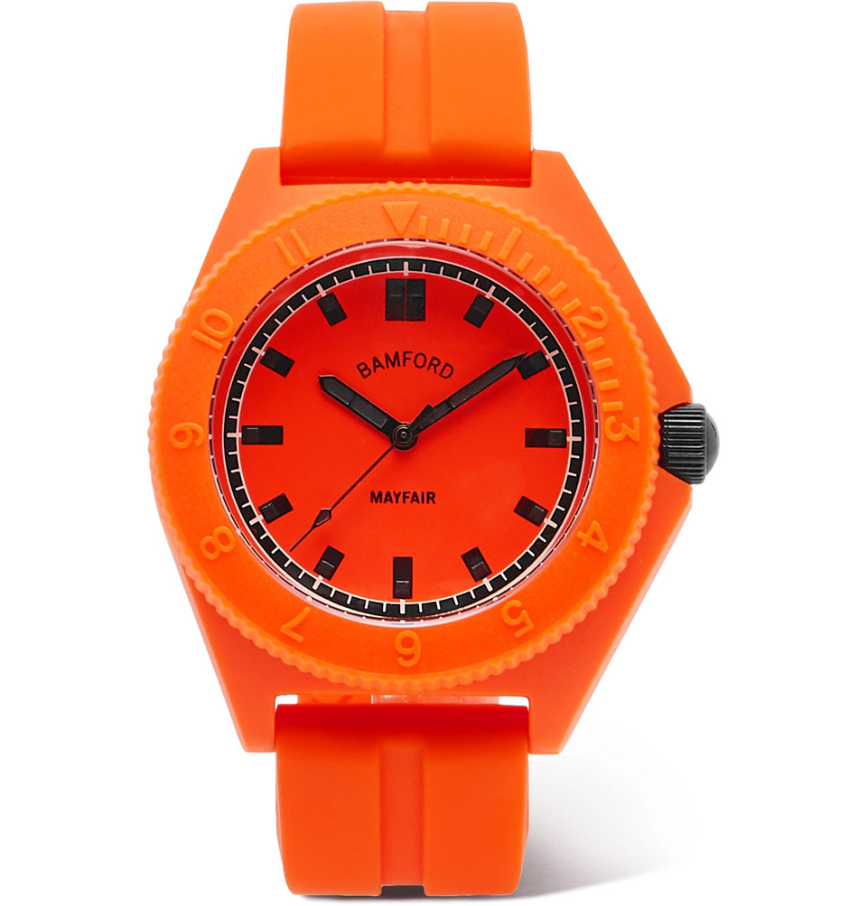 Mayfair Sport Polymer And Rubber Watch - Orange