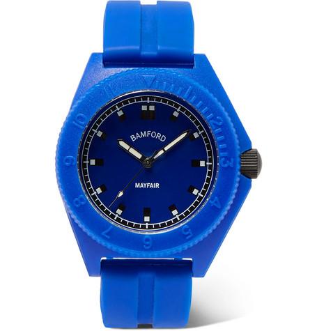 Bamford Watch Department MAYFAIR SPORT POLYMER AND RUBBER WATCH - BLUE - ONE SIZ