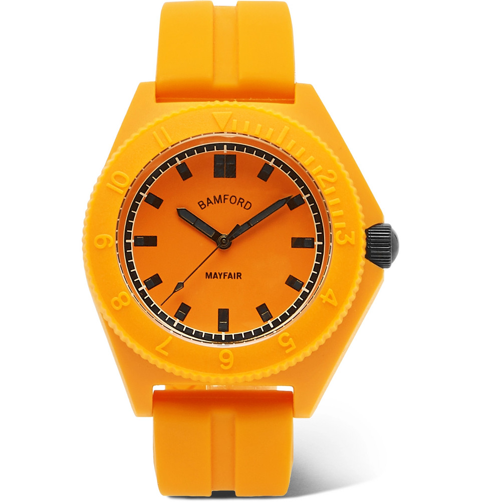 Mayfair Sport Polymer And Rubber Watch - Yellow
