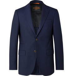 Tod's Navy Slim-Fit Wool Blazer