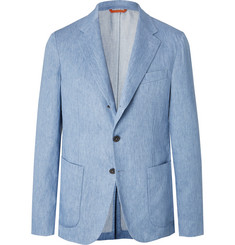 Tod's Light Blue Linen Suit Jacket