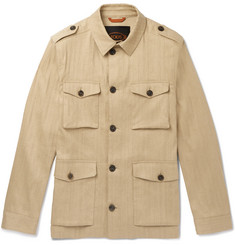Tod's Sahariana Washed Cotton and Linen-Blend Field Jacket
