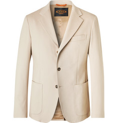 Tod's Beige Slim-Fit Solaro Cotton-Blend Suit Jacket