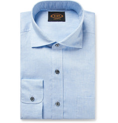 Tod's Light-Blue Mélange Linen Shirt