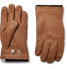 Norse Projects + Hestra Full-Grain Leather and Wool-Blend Gloves