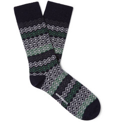 Norse Projects Bjarki Fair Isle Wool-Blend Socks