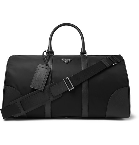 Prada Saffiano Leather-Trimmed Nylon Holdall